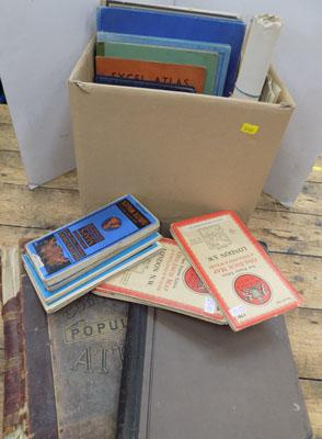 Box of stamps & albums