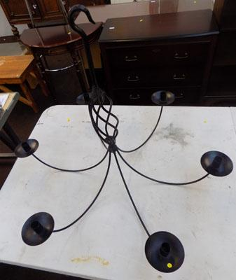 Candle chandelier-black
