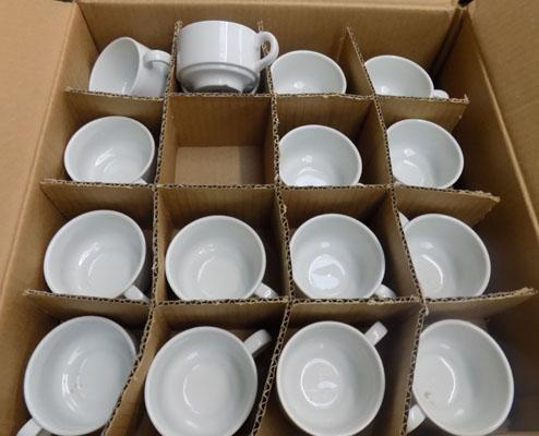 Box of new espresso cups