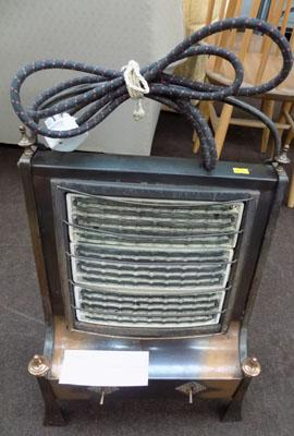 3 Bar electric fire 1940's- bronze finish-re wired, new plug w/o