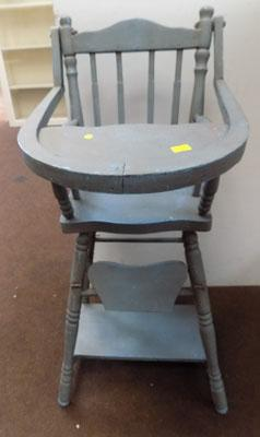 1940s -50s child's high & low chair