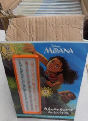 Box of new 'Moana' Books