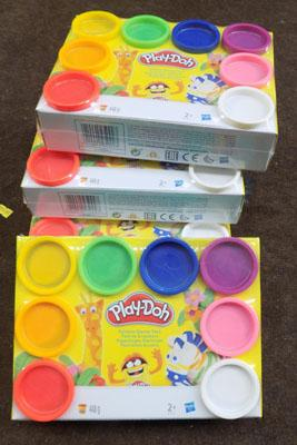 4x Rainbow play doh