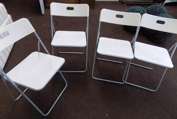 Set of 4 folding chairs