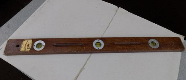 Vintage John Rabone wooden spirit level