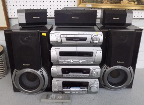 Technics system ex/wo Woofer speakers and remote