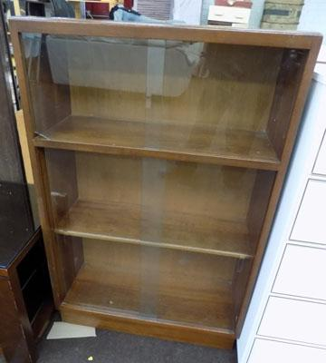 Glass fronted shelving unit