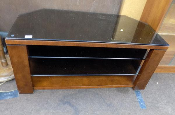 Wood & glass TV stand