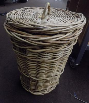 Vintage wicker linen basket
