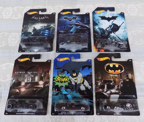 Full set of Batman hotwheels