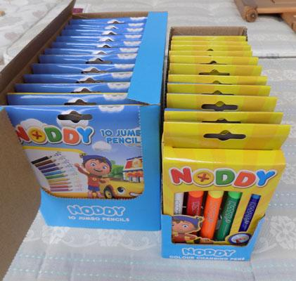 2x Packs of Noddy pencils & pens