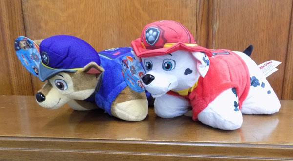 2x Paw Patrol pillow packs