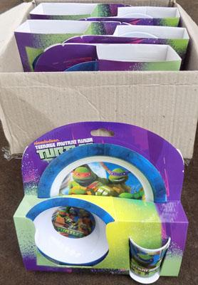 6x Turtles dinner set