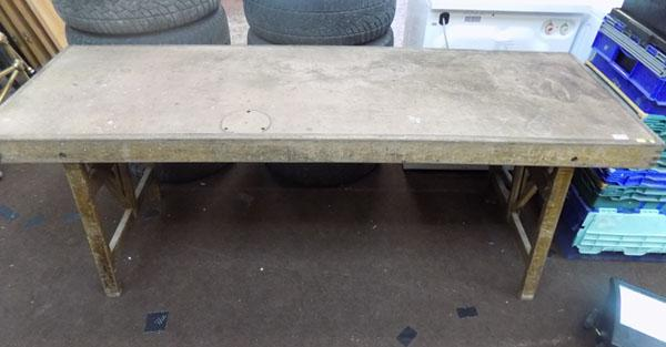 Wooden folding table ideal for carboots etc.