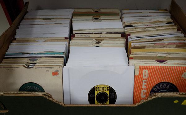 Large box of singles 1960's