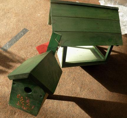 Bird table top & bird box