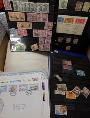 Large box of Commonwealth stamps etc