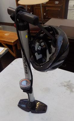 Bike air pump & helmet
