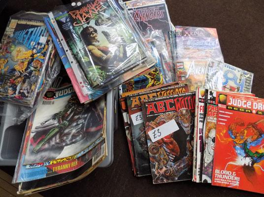 Box of 2000A.D comics and others