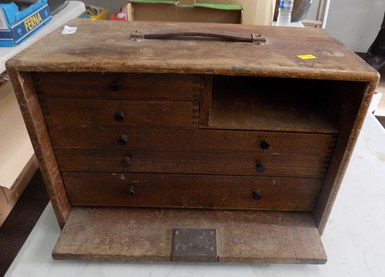 Vintage storage box with drawers