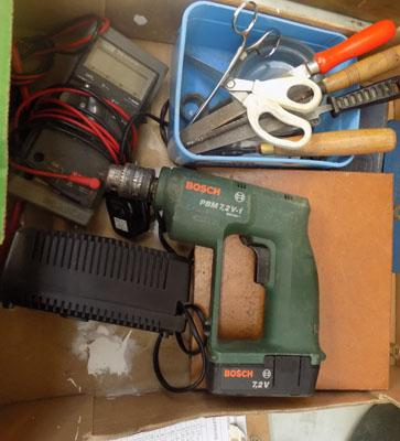 Box of tools inc volt tester