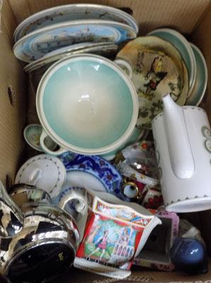 Box of mixed ceramics, incl. Cooper