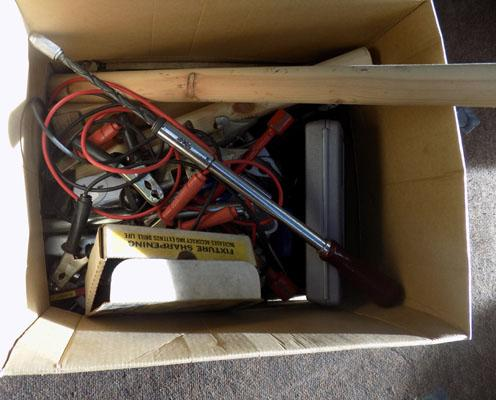 Box of tools inc jump leads