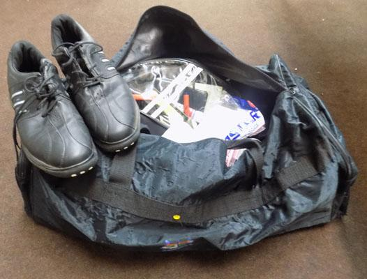 Referees bag, kits x4, boots x4, whistles, watches and flags