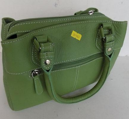New green Osprey hand bag