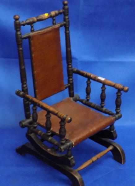 1890's Child's spindle work chair