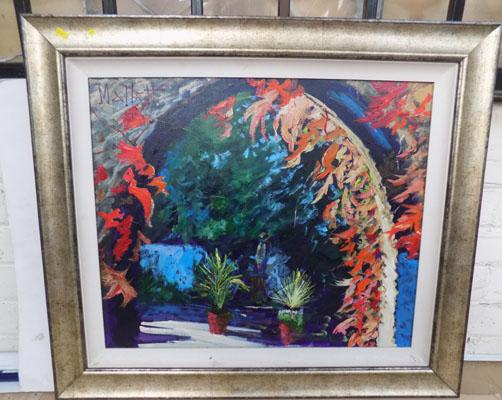 Original framed acrylic painting by Timmy Mallett-Virginia Creeper, size-68cm x 79cm
