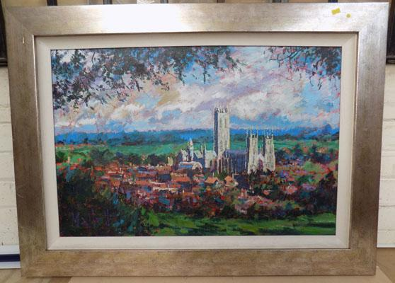 Original framed acrylic painting by Timmy Mallett-York , size-70cm x 96cm