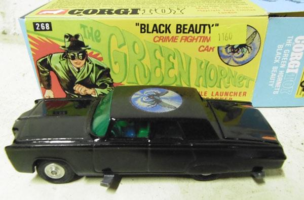 Corgi 268 Black Beauty car-original 1960's car in repro box