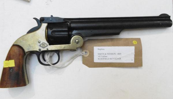 Realistic replica Smith & Wesson 1869 .45cal Schofield revolver