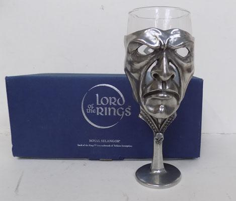 Royal Selangor-Lord of the Rings pewter goblet-Sauron. In the incorrect box
