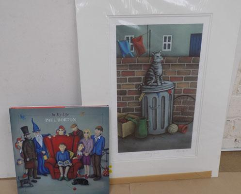 Signed mounted print by Paul Horton-Alley Cat 49/49 artist proof with book & certificate