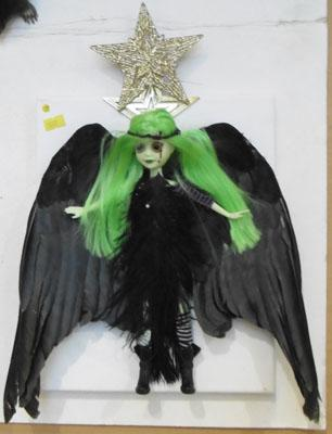 Unusual goth taxidermy Angel