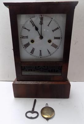 Ansonia cottage clock with key in working order