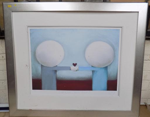Signed Ltd Ed print 'Cold Hands Warm Heart' by Doug Hyde (damage to the mount) size-95cm x 81cm