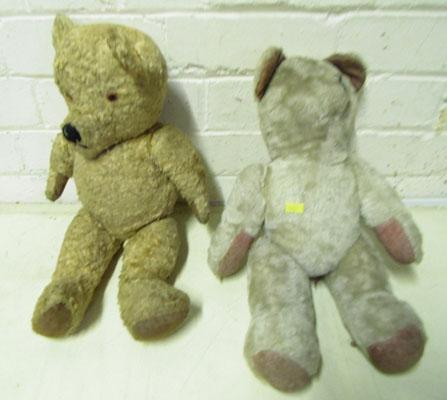 2x Vintage teddy bears-1 straw filled & growls