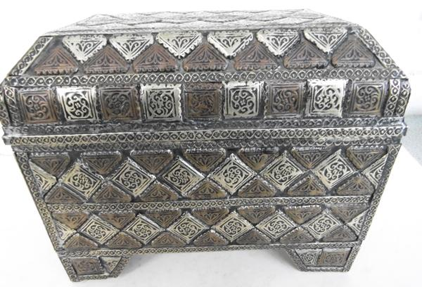 Eastern style metal lined heavy casket