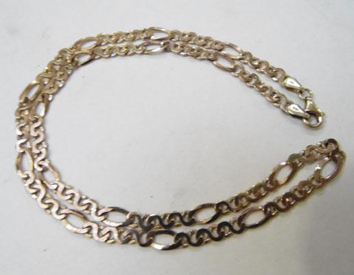 "9ct Rose gold chain 20"" long"