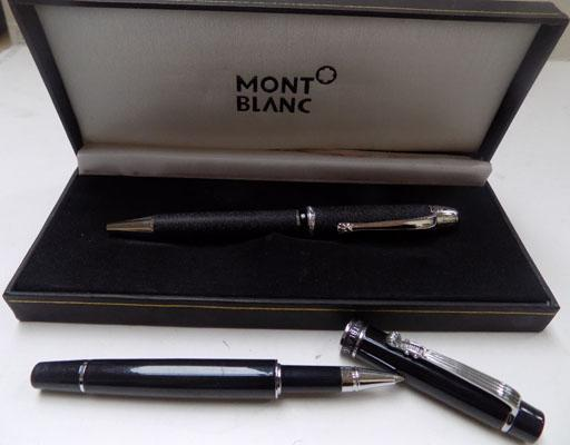 Monte Blanc pen in case and another Mon Blanc pen (authenticity not verified)
