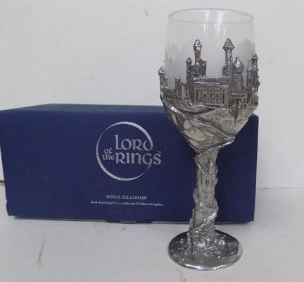 Royal Selangor-Lord of the Rings pewter goblet-Goblet ring