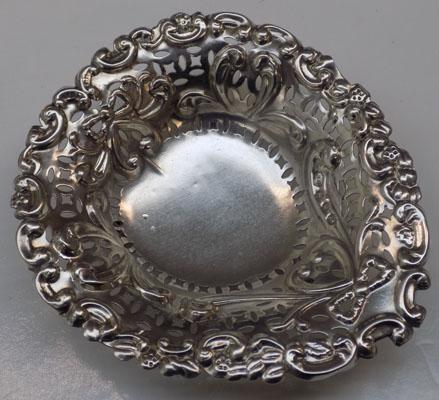 Antique silver pin tray-Birmingham circa 1896