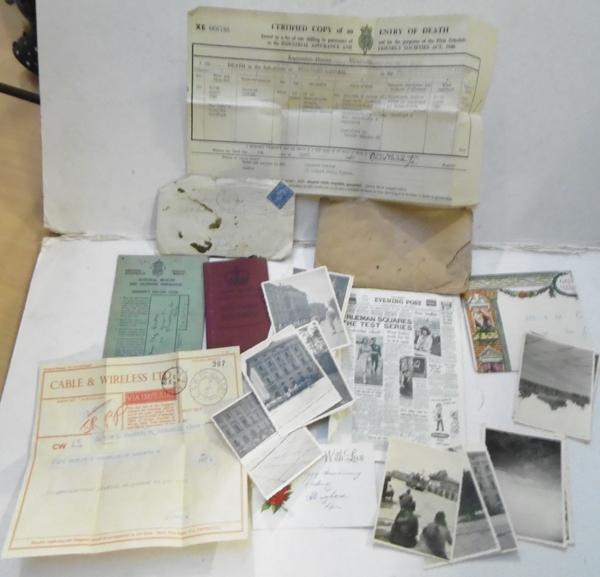 Selection of WWII photographs, documents & others