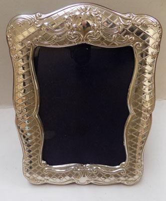 Large sterling silver picture frame
