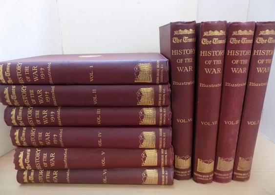 The Times History of The War 1941 Illustrated set Vol 1-10