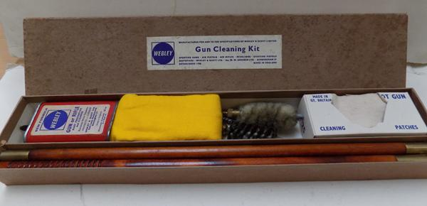 Vintage Webley gun cleaning kit