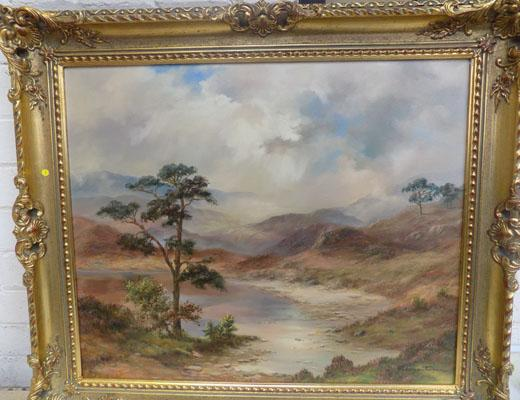 "Landscape original oil painting by Prudence Turner 30"" x 26"""